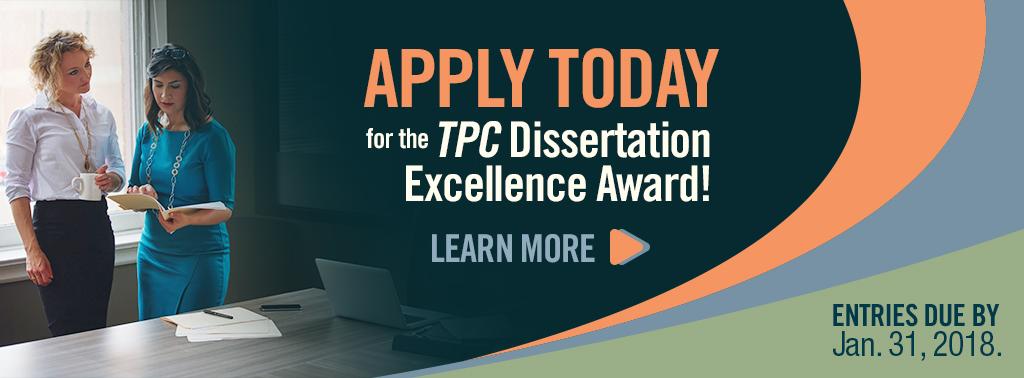 TPC-2018DissertationExcellenceAward-Website-Banner